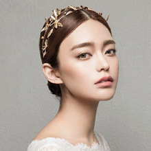 Vintage bridal headband dragonfly Wedding Tiara Crown gold Bridal Hair Accessories Jewelry two rows golden hairband women tiara