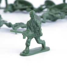 OCDAY 100pcs/Pack Military Plastic Action Figure Toy Soldiers Army Action Figures 12 Poses Toys Collection Good for Intelligence(China)