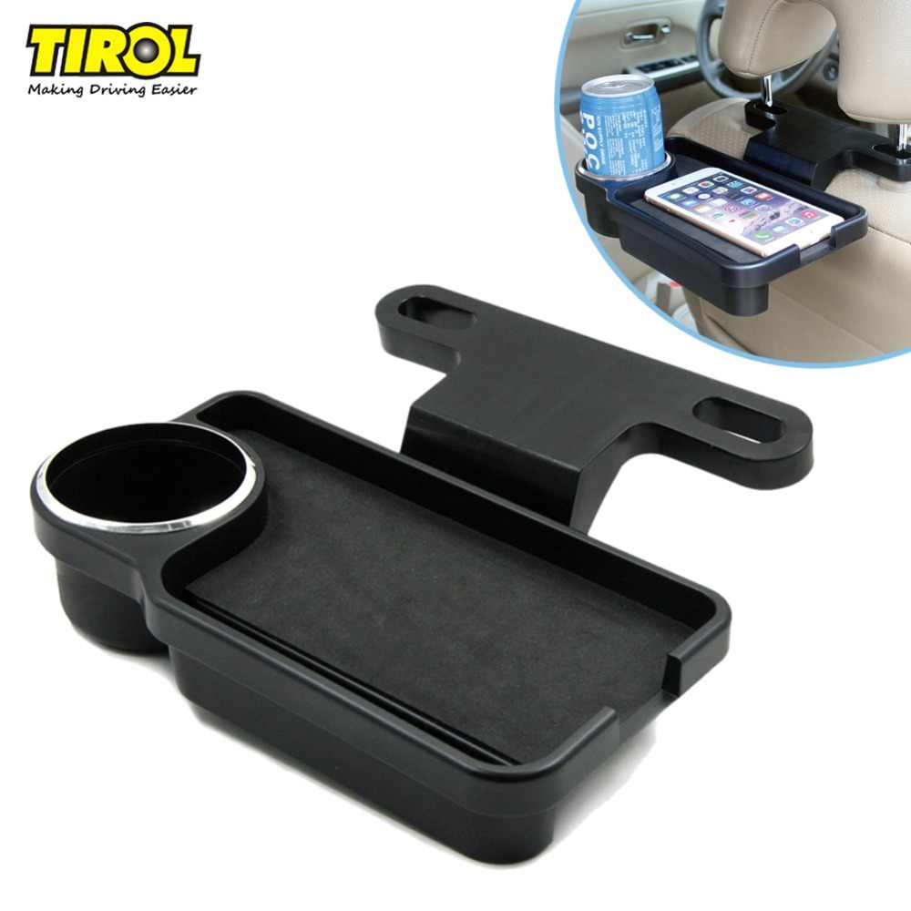 TIROL T22804 a Car Back Rear Seat Multi Tray Drink Food Cup Tray Holder Stand Desk Auto Travel  Tray Rear Seat Free Shipping