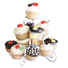 3 levels 13 - Cup display metal support to small cake Cupcake Christmas tree shape for birthday / wedding party
