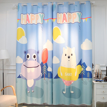 Ready Made Curtains Free Shipping!3D Curtains Cartoon Animal Printing Baby Room Curtain.(China)