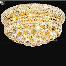 gold Ceiling Lights Contemporary hotel lobby lamp crystal lamp home high quality flush mounted 40cm W x 20cm H(China)