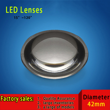 10PCS 42mm Transparent semi-circle Plano-convex LED Lenses Optic Lens Grade PMMA For Lens Reflector