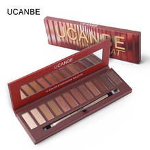 New Arrivals UCANBE Eye Makeup HEAT Matte Eyeshadow Palette Shimmer Eye Shadow Nude 12 Color Make Up Palette(China)