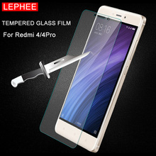 LEPHEE Xiaomi Redmi 4 Pro Tempered Glass Redmi 4Pro Screen Protector 2.5D 9H Hardness Transparent Front Case Xiomi 4 Prime Film(China)