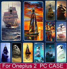 Classic Smooth Sailing Ship Pirate Ship Plastic PC Hard Cases For Oneplus 2 Two One plus 2 Two Cell Phone Case Back Cover Shell(China)