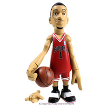 16cm NBA The Chicago Bulls All-Star Basketballplayer Derrick Rose Action Figure Q Version Of Mode For Christmas Gift