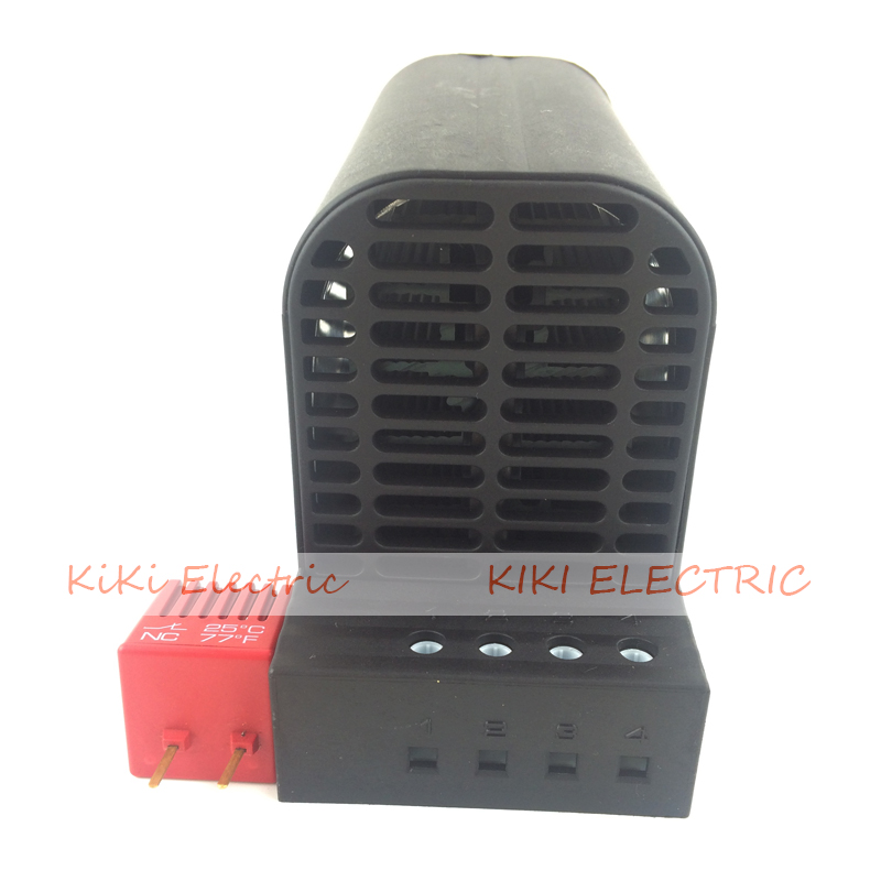DIN Rail Mounting Semincounductor Heater PTC Heating Element 150w Industrial Heater with Thermostat CSF 060 Touch-safe Heater<br>