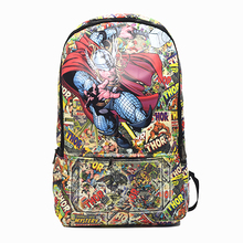 Thor Backpack Captain America Iron Man Superman School Bags Backpack Pouch Mochila Women Backpack Travel Bag FreeShipping
