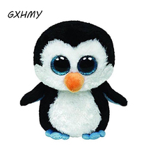 GXHMY Original Ty Beanie Boos Big Eyes Plush Toy Doll Black Penguin