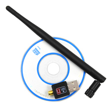 Elisona WiFi Adapter 5dB wi fi Antenna 150Mbps Lan Wireless Network Card Portable USB wi-fi Receiver Adaptador 802.b/g/n wifi(China)