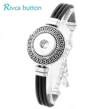 Buy P00782 Newest Snap Button Bracelet&Bangles Antique Silver Plated Vintage Charm leather Bracelets 18mm Rivca Snap Buttons Jewelry for $2.30 in AliExpress store