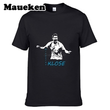 Thanks for MIROSLAV KLOSE LAZIO maglietta maglia Men's T-shirt Guitar Short Sleeve Printed Casual Patriots Tees W0517001(China)