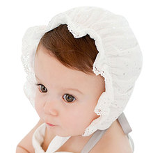 Baby hats girls princess Hats Cotton The Palace Hat Baby Newborn Sun Hats New Caps High Quality(China)