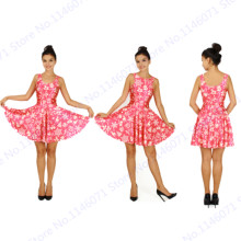 One Piece Pink Ladies Tennis Dress Pink Peach Christmas Dance Aerobics New Year Dress Reversible Sexy Skater Dress Sundress