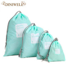 4x Waterproof Travel Drawstring Dry Storage Bag Shoe Laundry Lingerie Makeup Pouch For cosmetics Underwear Organizer