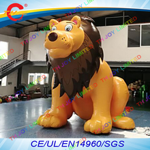 free air shipping to door,5m/16.5ft advertising outdoor air-blow lion cartoon,giant inflatable lion animal model display(China)