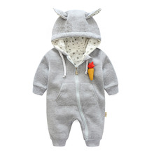 2017 new fashion infant girl costumes cute Carrot hoodies for girls outerwear & coats , 0-24M Baby Girls clothes Newborn wear(China)
