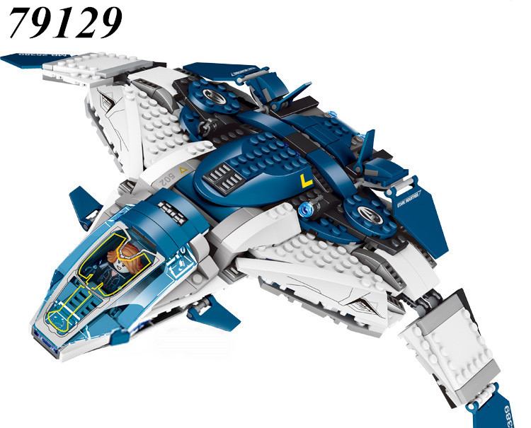 AIBOULLY 79129 Marvel Super Heroes series Black Widow The Avengers Quinjet City Chase Model Building Block Toy Compatible 76032<br>