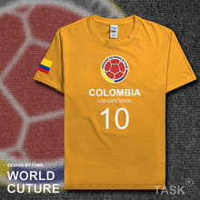 COL Colombia national footballer team t shirt men t-shirt jerseys FA brand clothing tshirts streetwear summer 2017 Colombian CO