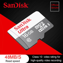 Sandisk Ultra micro SDHC/micro SDXC UHS-I Memory Cards 48MB/S micro SD 64GB 32GB 16GB 8GB Class 10 TF Card with Adapter(China)