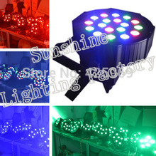 Free shipping Par 64 Tri color Led Par Light  RGB led par can