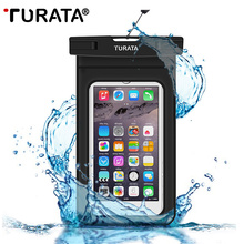 TURATA Universal Waterproof Case for iPhone 7 6 Plus Samsung Galaxy S7 S6 Edge WaterProof Pouch Phone Bag for Mobile Phone