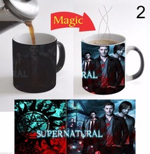 TV series supernatural Dean mugs Sam heat sensitive mugs coffee mug transforming heat reveal ceramic porcelain tea cups