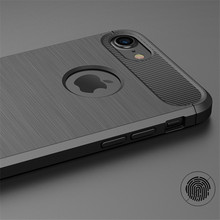 KRY Carbon Fiber Phone Cases For iPhone 6 Case 6s Plus SE 5 5s Cases Soft Anti-Knock Cover For iPhone 7 Case 7 Plus Capa Coque
