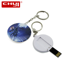 CHYI Cool Key Ring USB Flash Drive Pen Drive Blue Anime Superman Design Memory Stick 4GB 8GB 16GB 32GB 64GB Pendrive Hot Sale(China)