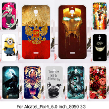 Phone Cover Case For Alcatel OneTouch Pixi 4 (6) 3G OT-8050D Cases Fundas For Alcatel 8050 OT8050 8050D 6.0 inch Shell housing