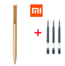 Buy 1 metal pen + 3 black ink Original Xiaomi New Mijia Metal Sign Pen 3 Pieces Refill Ink replacement OEM retail Box for $8.04 in AliExpress store