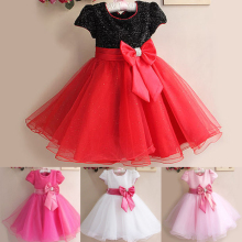 Baby Girl Toddler Princess Pageant Party Tutu Lace Bow Flower Dresses Elegant Baby Girls Clothes Infant Kids Clothing For 13-24M