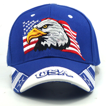 2018 unisex blue Cap USA Flag Eagle 3D Embroidery Baseball Cap Snapback Caps Casquette Hats Fitted Casual Gorras Dad Hats