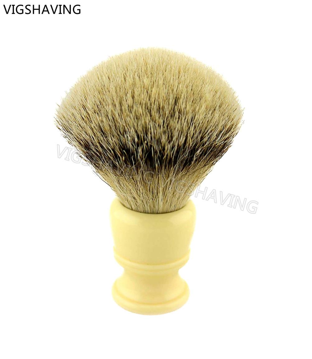 Resin handle silvertip badger hair shaving brush<br>