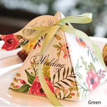 Trend Wedding Decoration 20Ps/pack Favor Sweets Box Floral Wedding Candy Boxes(China)