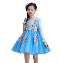 Buy infantil princess girls dresses girl children clothing long sleeve party gown toddler kids girl tutu dress girls clothes for $18.38 in AliExpress store