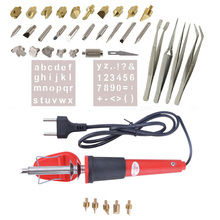 38PCS Wood Burning Pen Set Wood Burning Soldering Iron Chiseled Tips Blade Tweezer Pyrography Tool Woodburning Soldering Pen Kit(China)