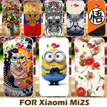Top Selling Painting Design Hard Plastic Case For Xiaomi Mi2s 4.3 Inch Mi 2s Cell Phone Cover Protective Sleeve Back Shell