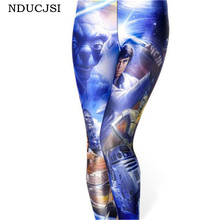 NDUCJSI 2017 Fashion Woman Autumn 3D Digital Casual Halloween Print Leggings Star Wars Females Elastic Milk Silk Sexy Leggins