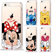 Funny Minnie Mickey Cartoon Soft TPU Case For Apple iPhone 7 7 Plus 6 6S Plus 5 5S gel Back Cover Skin Coque Capa Para