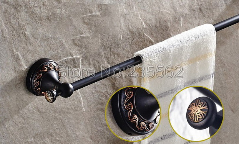 Black Oil Antique Brass Bathroom Wall Mounted Single Towel Bar Holders Towel Holder,Single Towel Bar lba461<br>