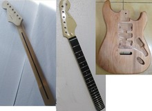 ST electric guitar body with guitar neck one set