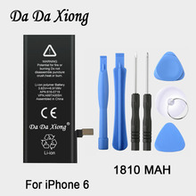 100% original Brand Da Da Xiong 1810mAh Genuine Li-ion Mobile Phone Accessory Replacement Battery Pack for iPhone 6 6G