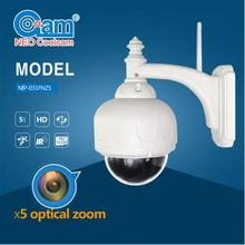 Big Discount 5X Optical Zoom Wifi HD IP Camera 720P Wifi Wireless Megapixel IP Camera Built In 8G SD Card(China)