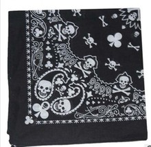 2017 Fashion Paisley Skull Head Scarf Wrap 100% Cotton Bandana Wristband 12pcs/lot  Headband