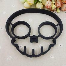 Cute Silicone Skull Egg Fried Shaped Mould Shaper Ring Kitchen Cooking Tool d893