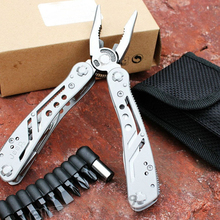 LHX CYP115 Multifunctional Pocket Folding Multi Tool Knife Army Suvival Stainless Life Screwdriver Outdoor Camping Hand Tools(China)