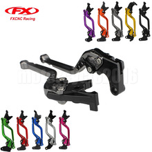 FXCNC Adjustable Motorcycles Brake Cable Clutch Lever For Yamaha YZF R1 2004 2005 2006 2007 2008 Long/Short Moto Lever