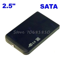 "Slim 2.5"" SATA HDD USB 2.0 External Box Hard Disk Driver Enclosure Case+Bag -R179 Drop Shipping"